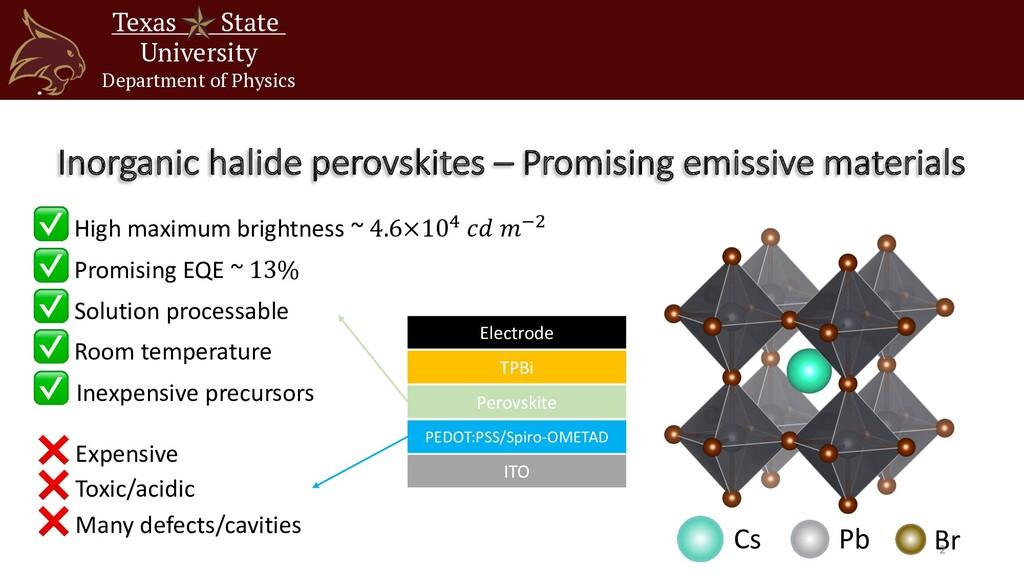Inorganic halide perovskites – Promising emissi...