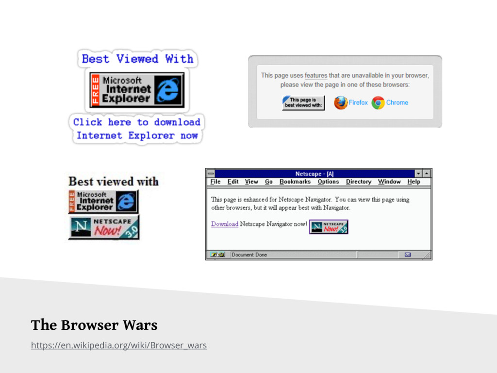 https://en.wikipedia.org/wiki/Browser_wars The ...