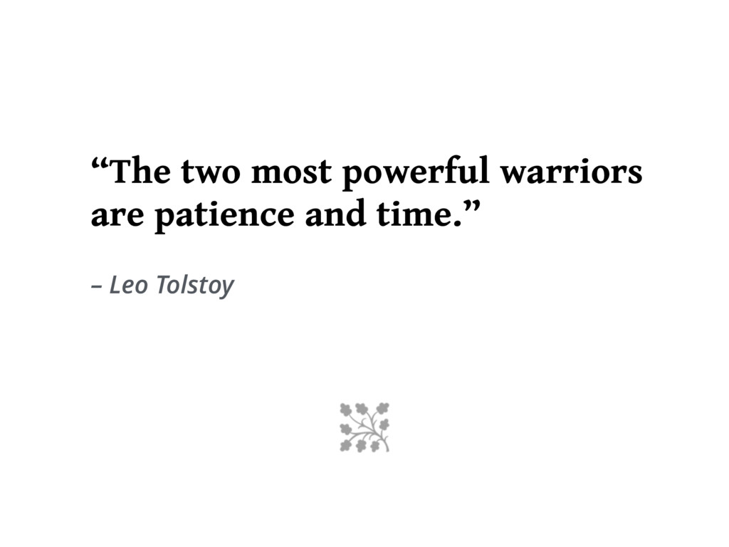 """The two most powerful warriors are patience an..."