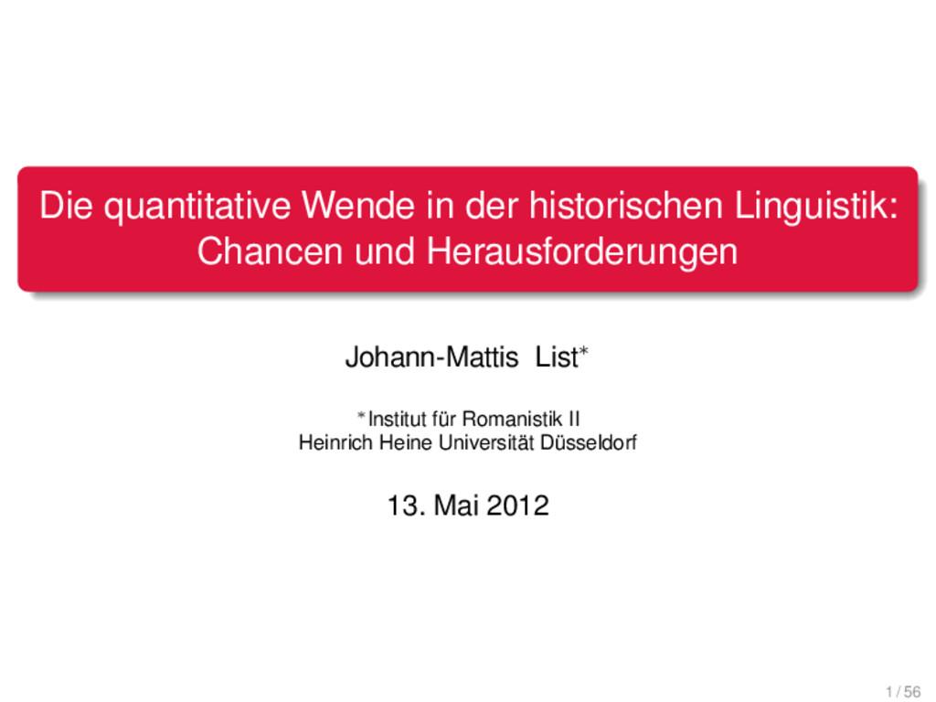 . . . . . . . Die quantitative Wende in der his...