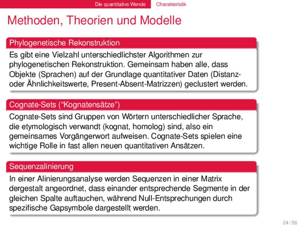 Die quantitative Wende Charakteristik Methoden,...