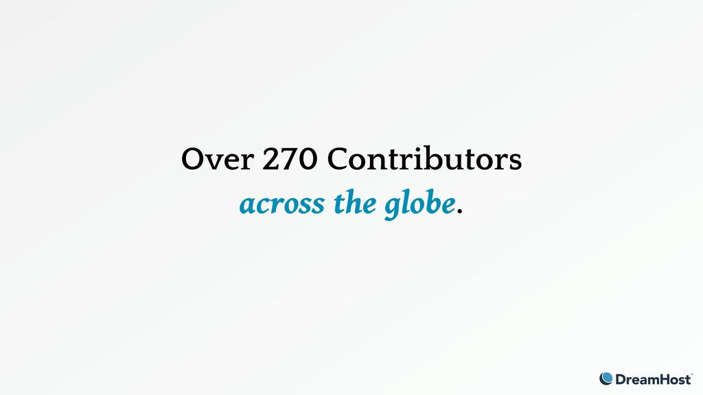 Over 270 Contributors across the globe.