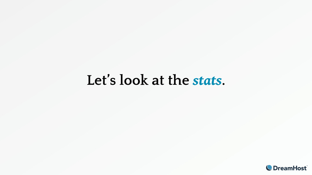 Let's look at the stats.