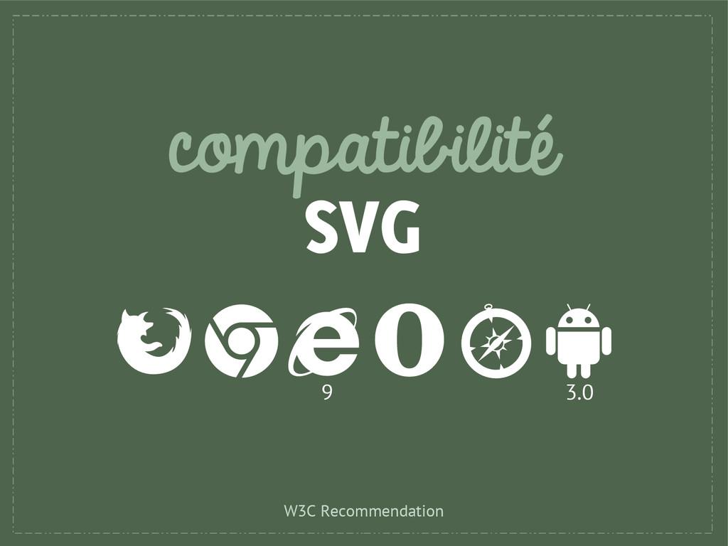compatibilité SVG 9 3.0 W3C Recommendation