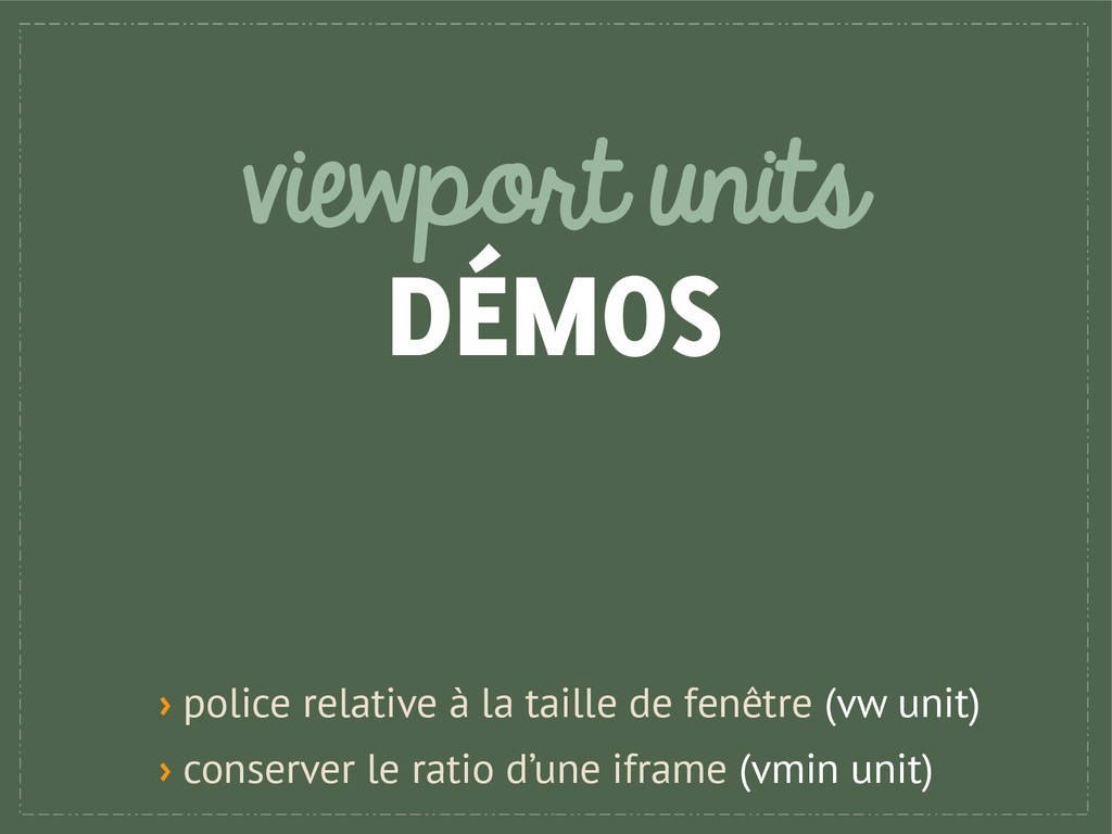 viewport units DÉMOS › police relative à la tai...