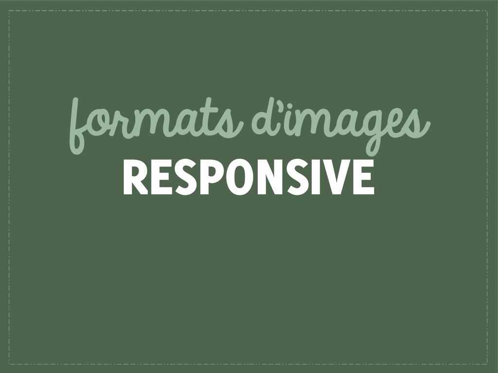 formats d'images RESPONSIVE