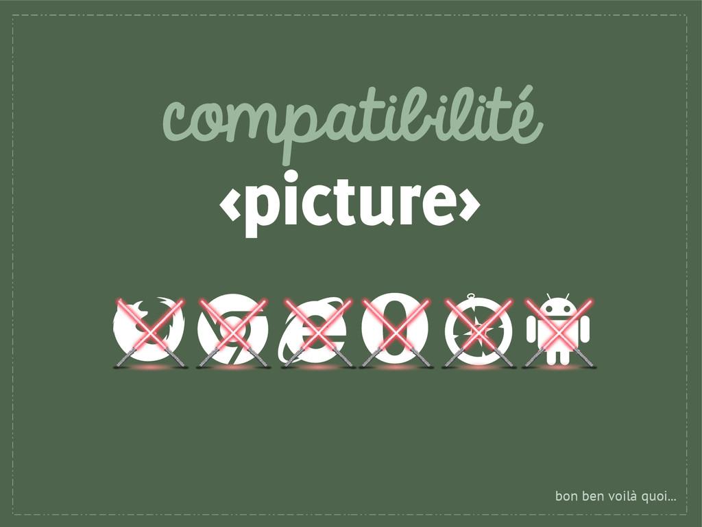 compatibilité <picture> bon ben voilà quoi...