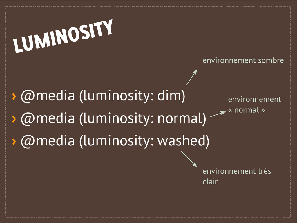 › @media (luminosity: dim) › @media (luminosity...