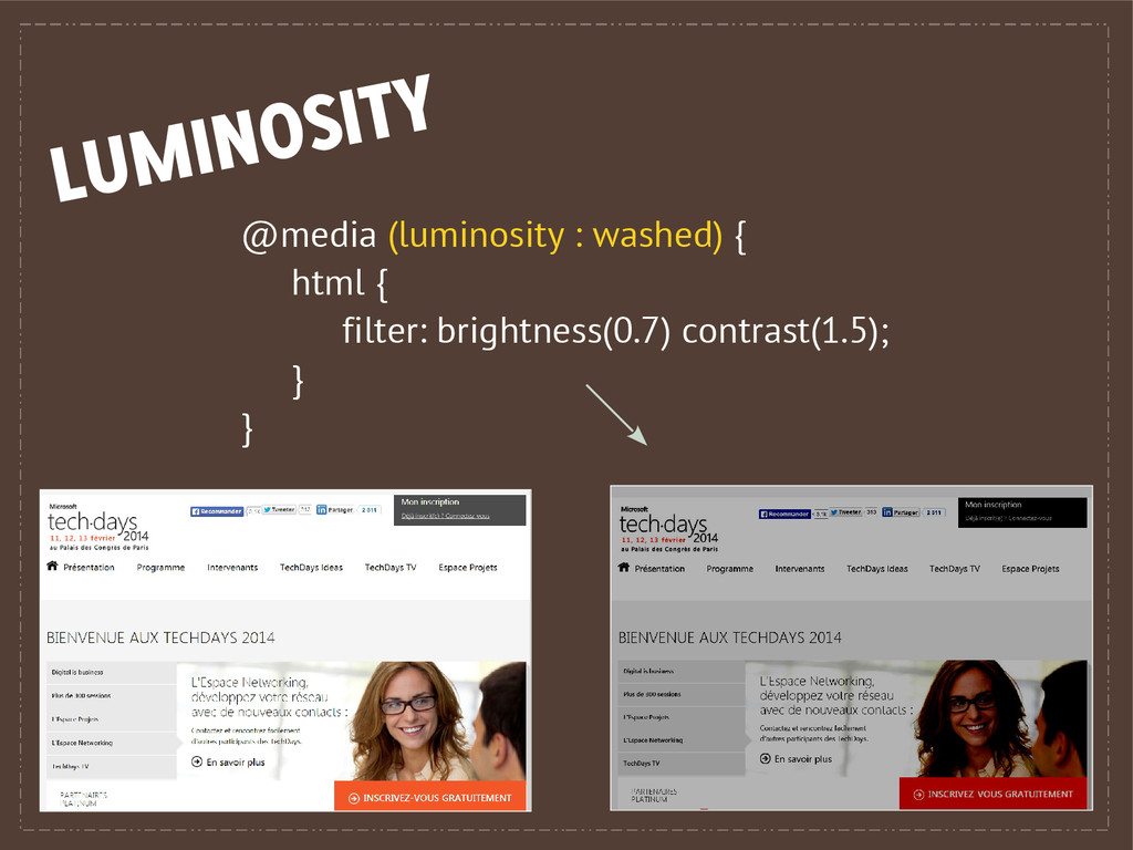@media (luminosity : washed) { html { filter: b...