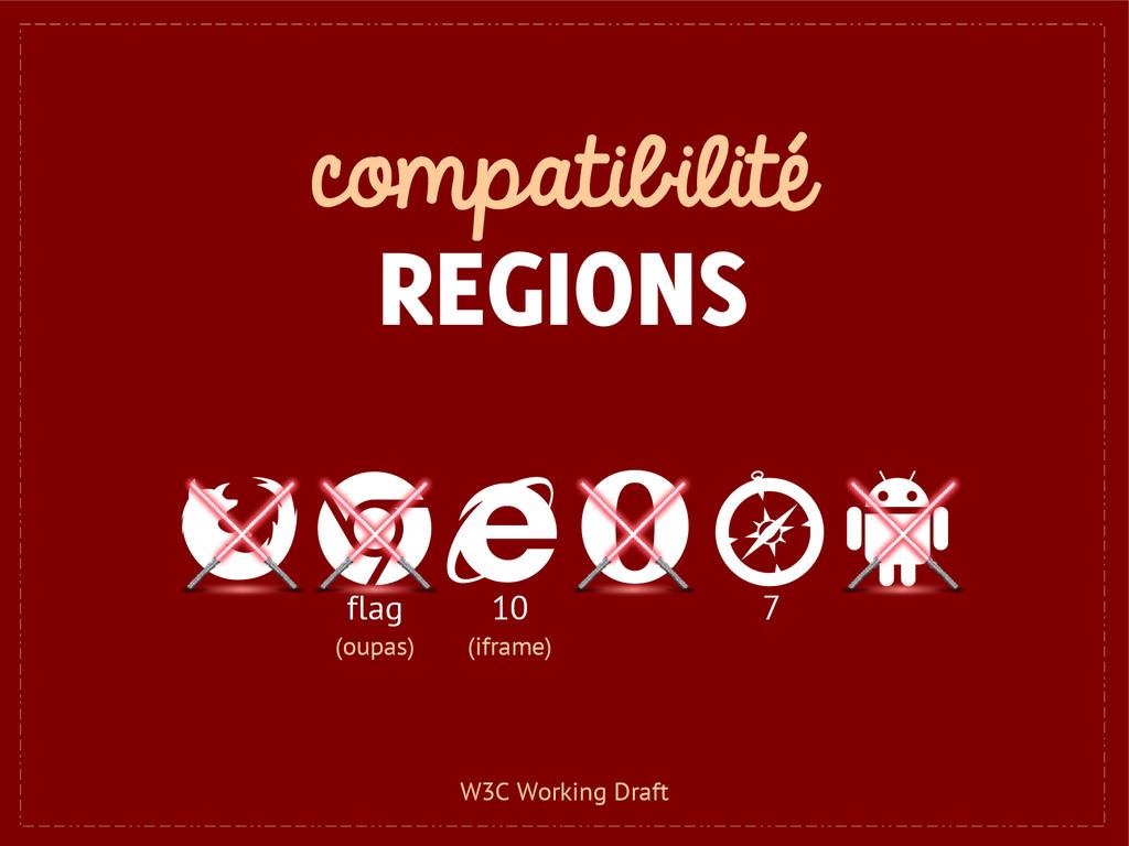 compatibilité REGIONS 10 (iframe) flag (oupas) ...