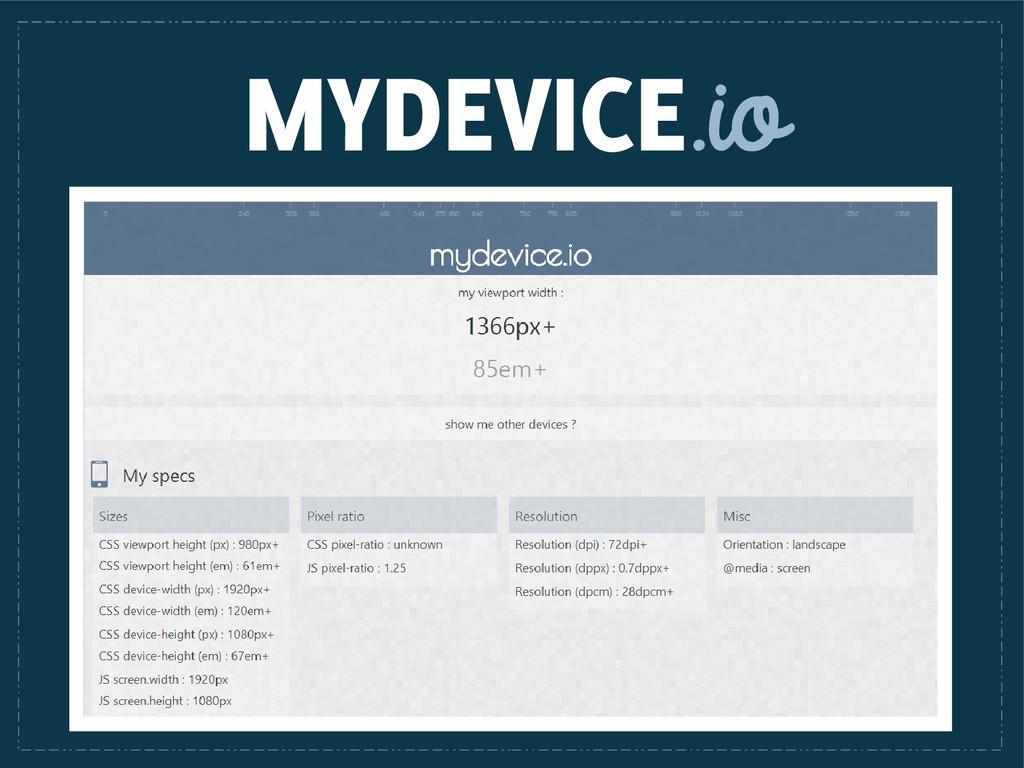 MYDEVICE.io
