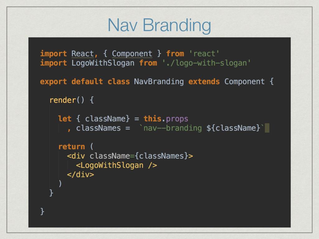 Nav Branding