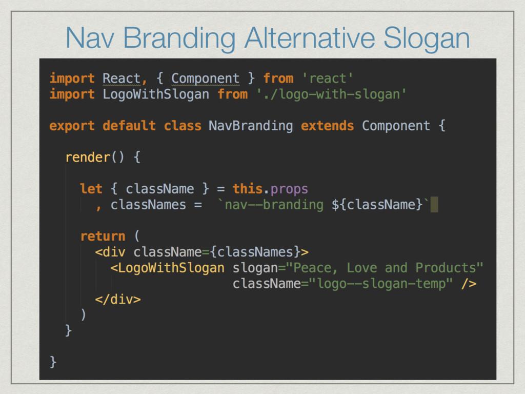 Nav Branding Alternative Slogan