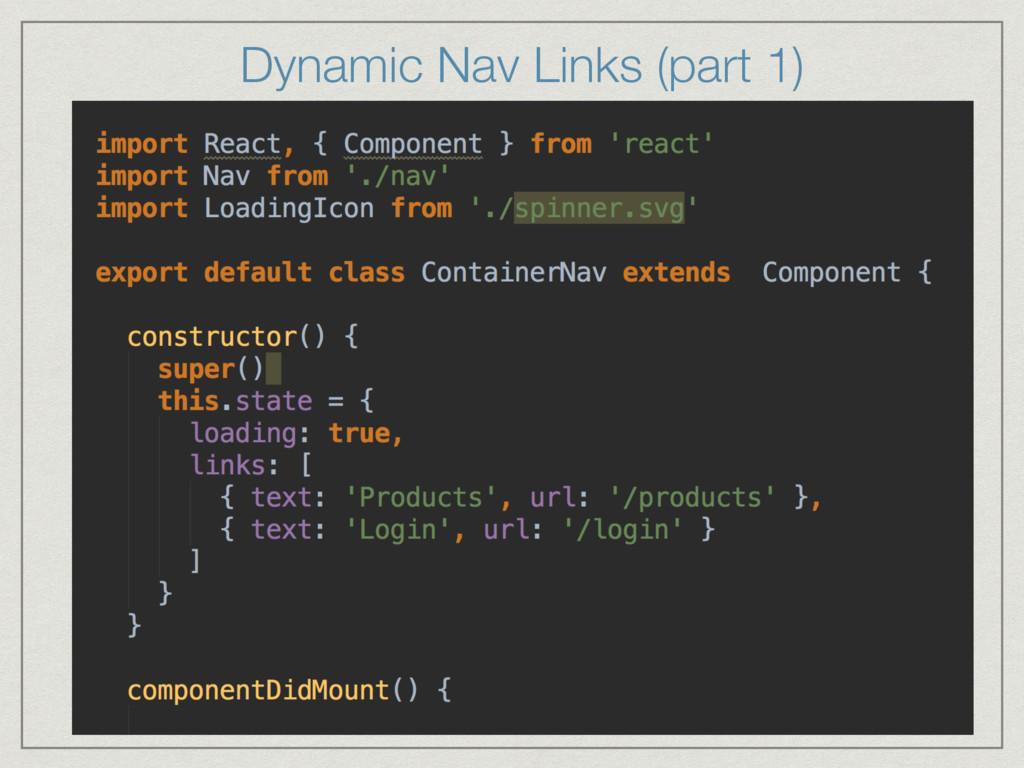 Dynamic Nav Links (part 1)