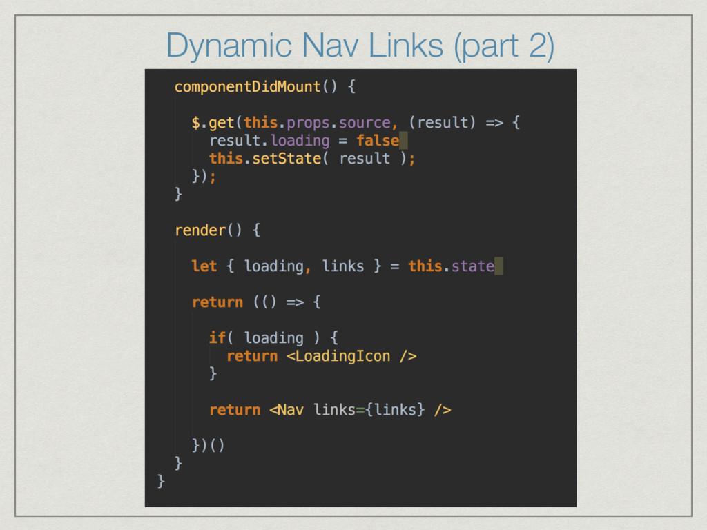 Dynamic Nav Links (part 2)