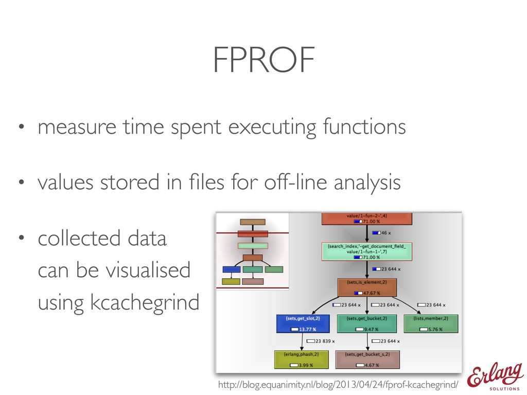FPROF • measure time spent executing functions ...
