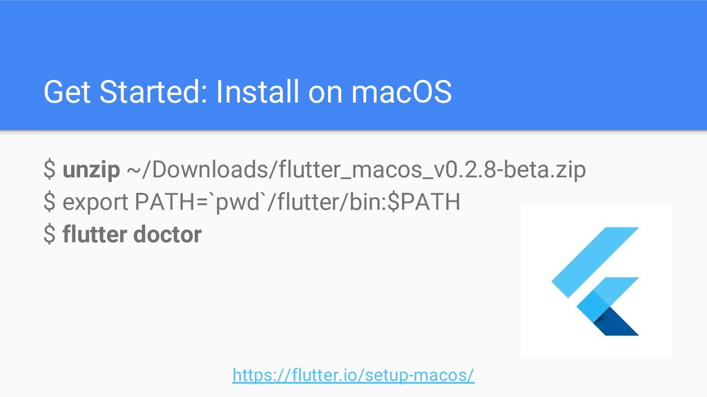Get Started: Install on macOS $ unzip ~/Downloa...