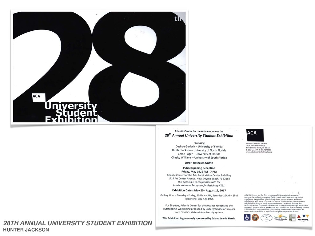 28TH ANNUAL UNIVERSITY STUDENT EXHIBITION HUNTE...