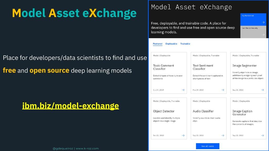 Model Asset eXchange Place for developers/data ...
