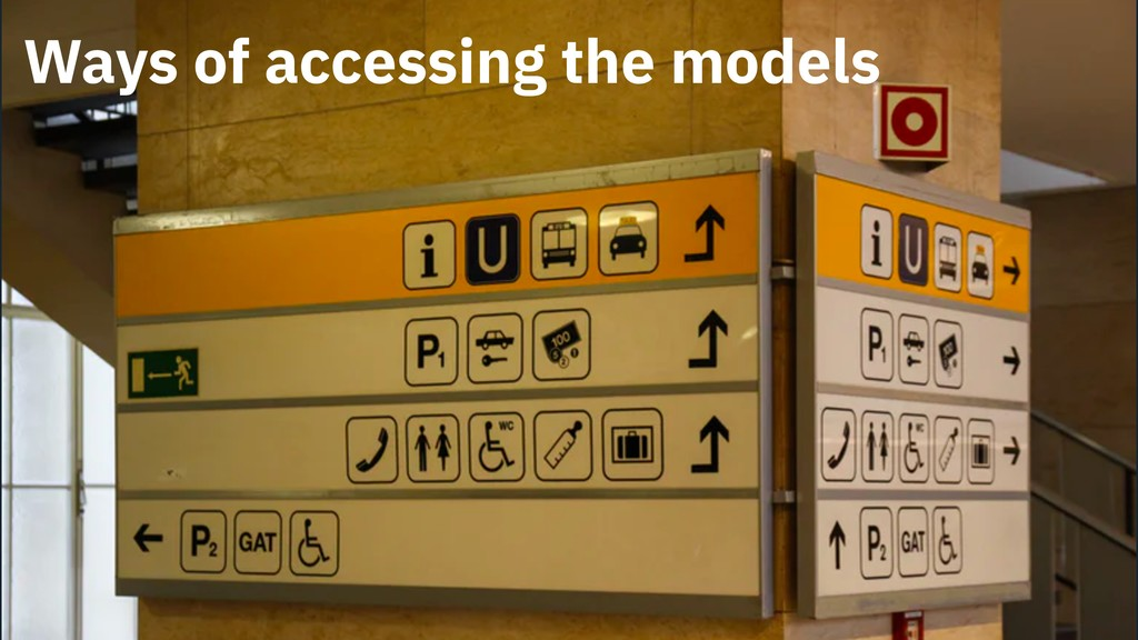 Ways of accessing the models