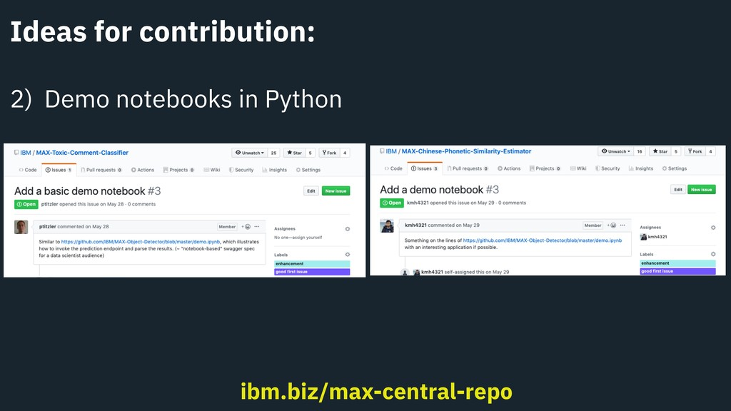 Ideas for contribution: 2) Demo notebooks in Py...