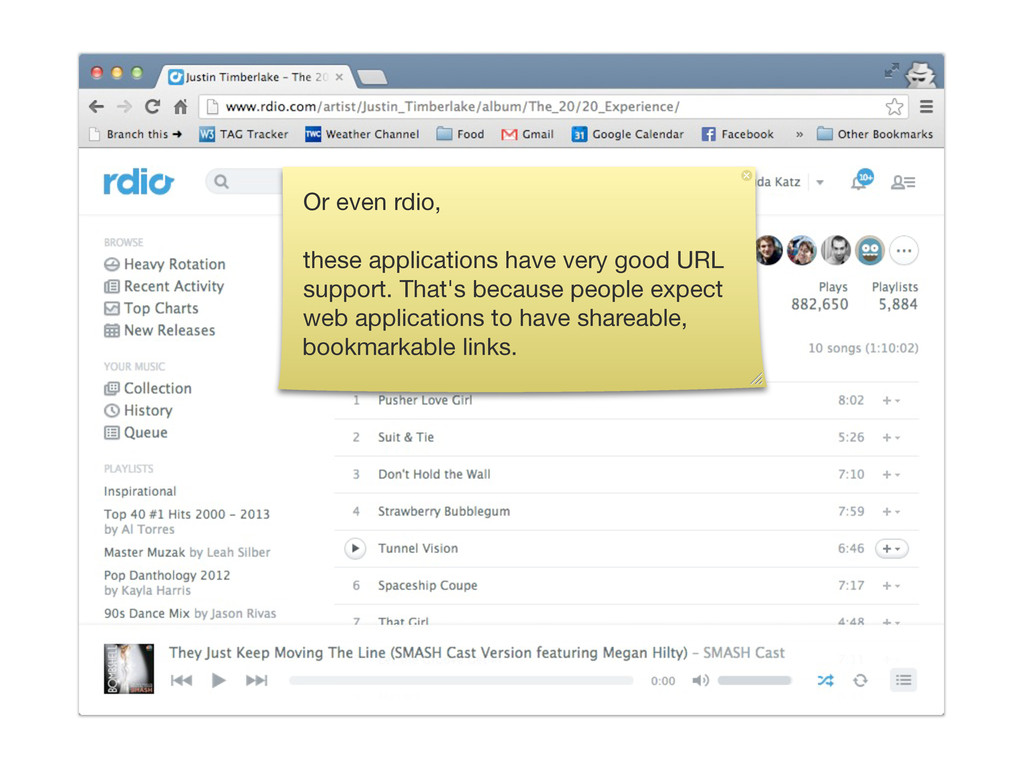 Or even rdio, these applications have very good...