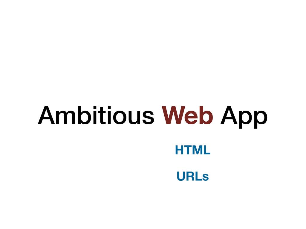 Ambitious Web App HTML URLs