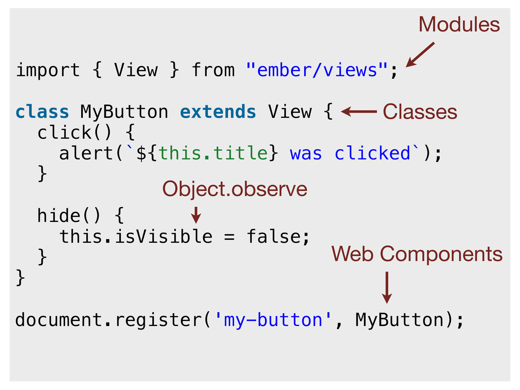 """import { View } from """"ember/views""""; class MyBut..."""