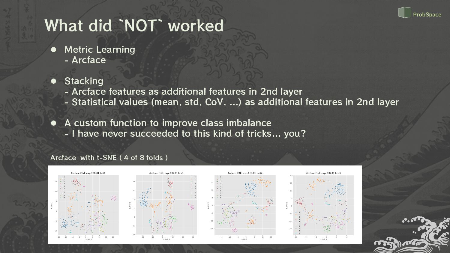 What `NOT` worked  Metric Learning - Arcface ...