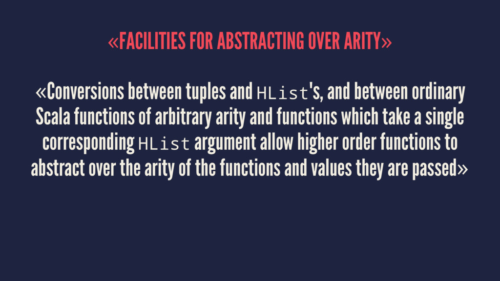«FACILITIES FOR ABSTRACTING OVER ARITY» «Conver...