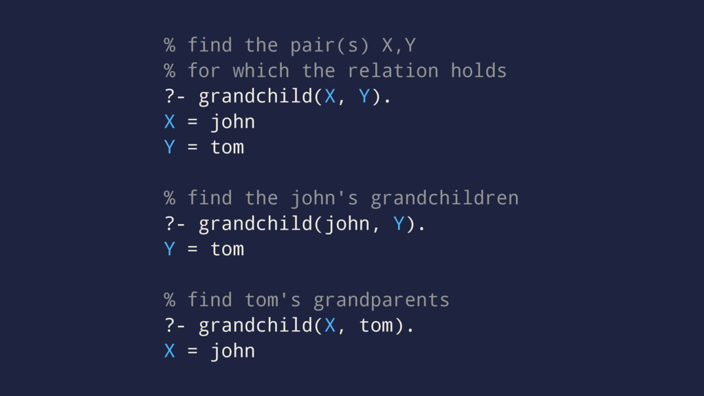 % find the pair(s) X,Y % for which the relation...