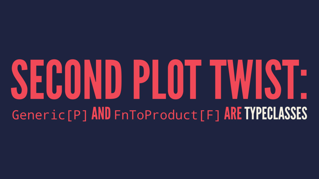 SECOND PLOT TWIST: Generic[P] AND FnToProduct[F...