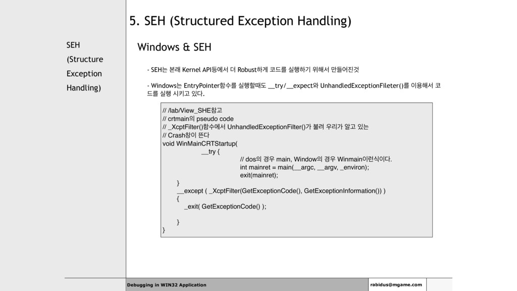 SEH (Structure Exception Handling) Windows & SE...
