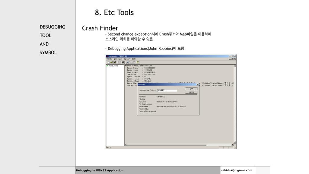 DEBUGGING TOOL AND SYMBOL Crash Finder - Second...