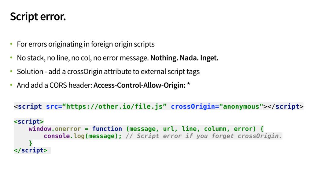 Script error. • For errors originating in forei...