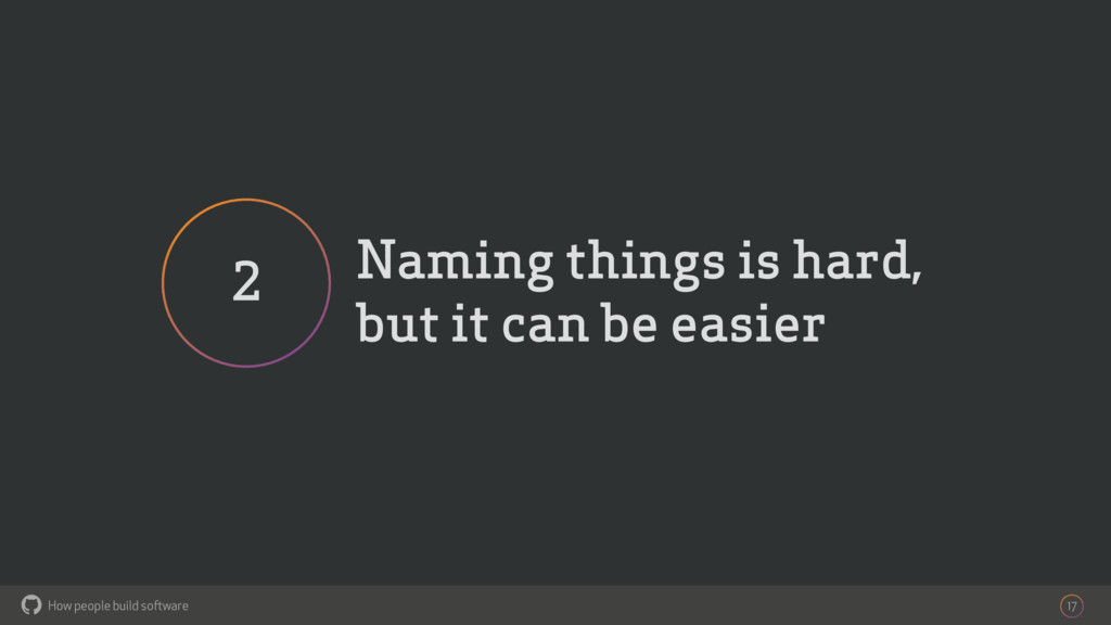How people build software ! Naming things is ha...