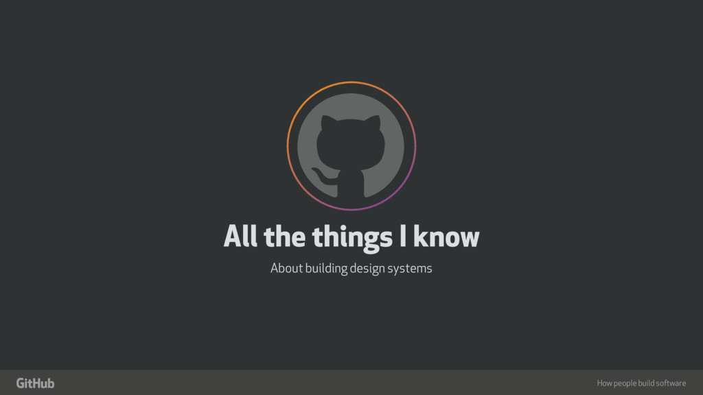 "How people build software ! "" All the things I ..."