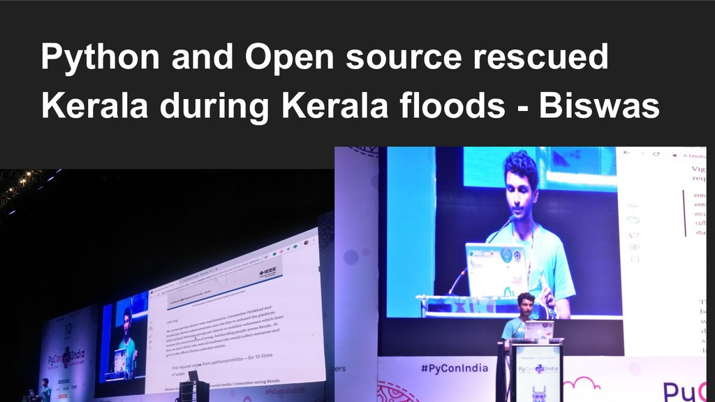 Python and Open source rescued Kerala during Ke...