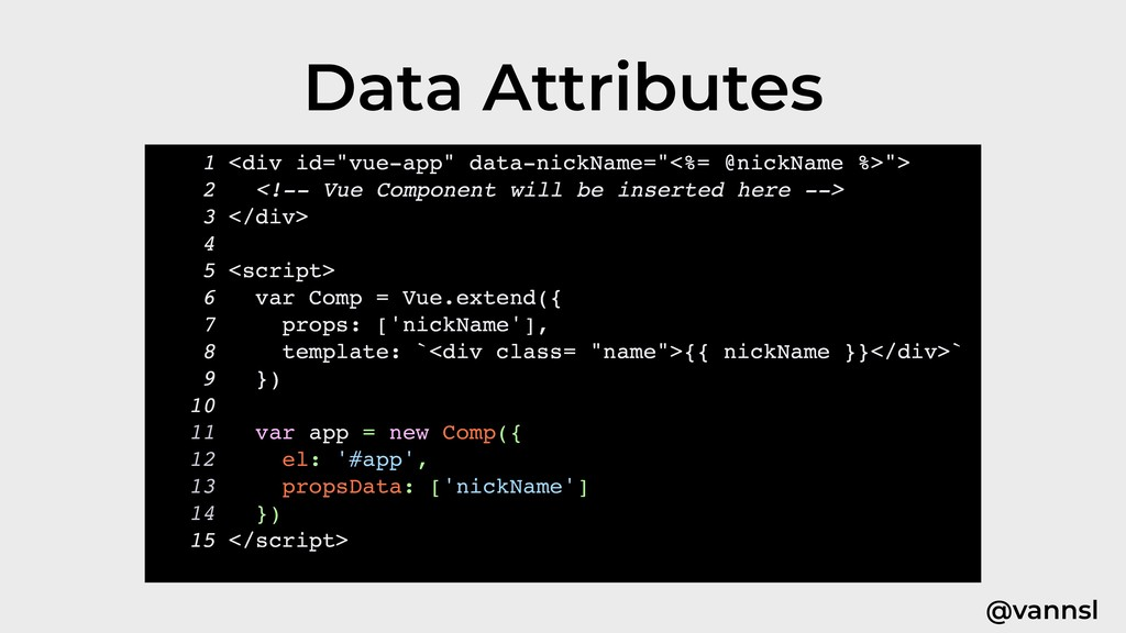 "@vannsl Data Attributes 1 <div id=""vue-app"" dat..."
