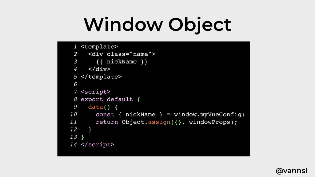 @vannsl Window Object 1 <template> 2 <div class...