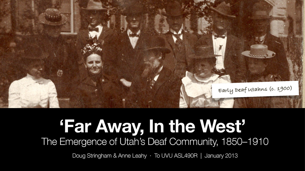 'Far Away, In the West' The Emergence of Utah's...