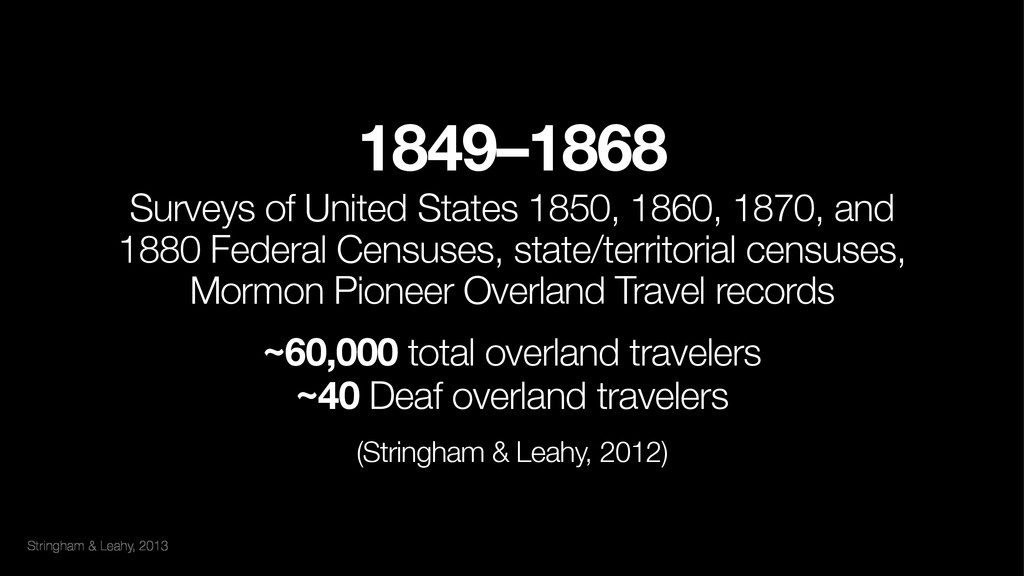 Stringham & Leahy, 2013 1849–1868 Surveys of U...