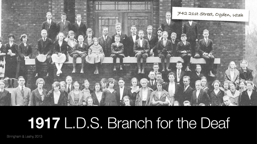 Stringham & Leahy, 2013 1917 L.D.S. Branch for ...