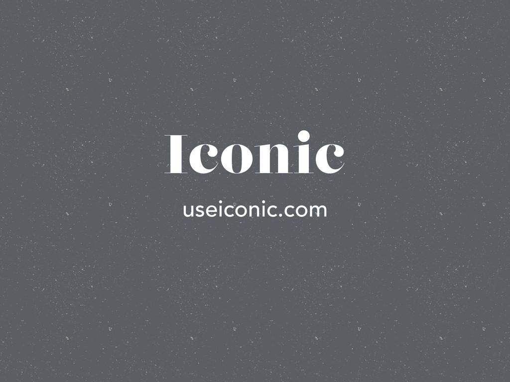 Iconic useiconic.com