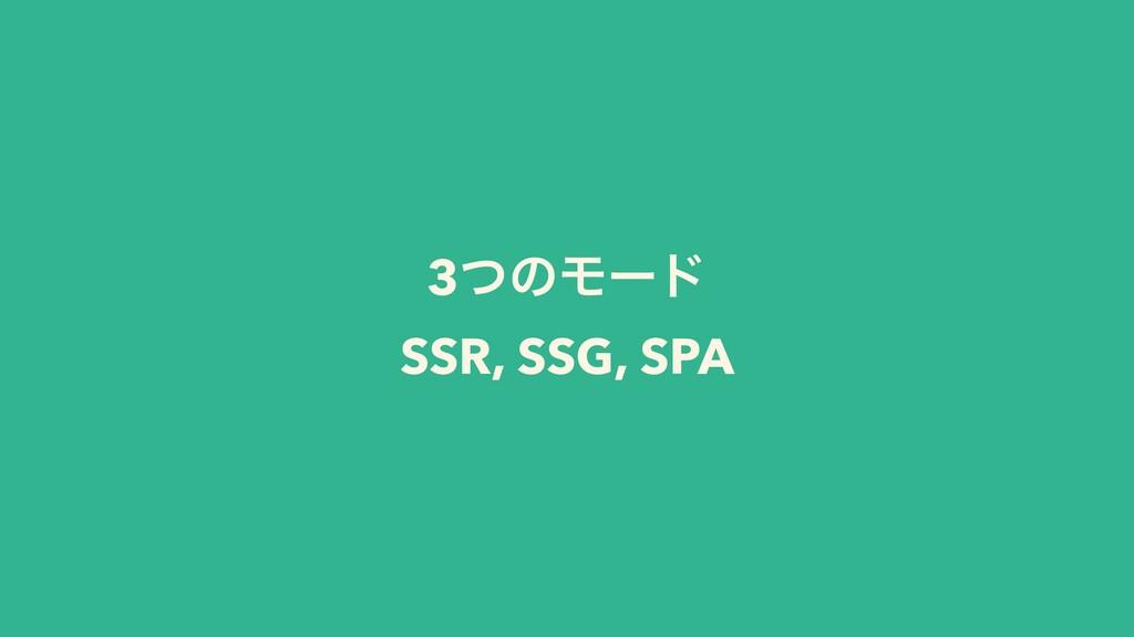 3ͭͷϞʔυ SSR, SSG, SPA