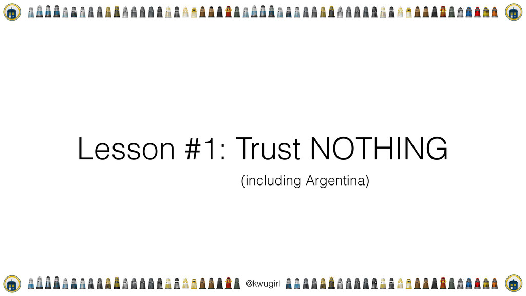 ! @kwugirl Lesson #1: Trust NOTHING (including ...
