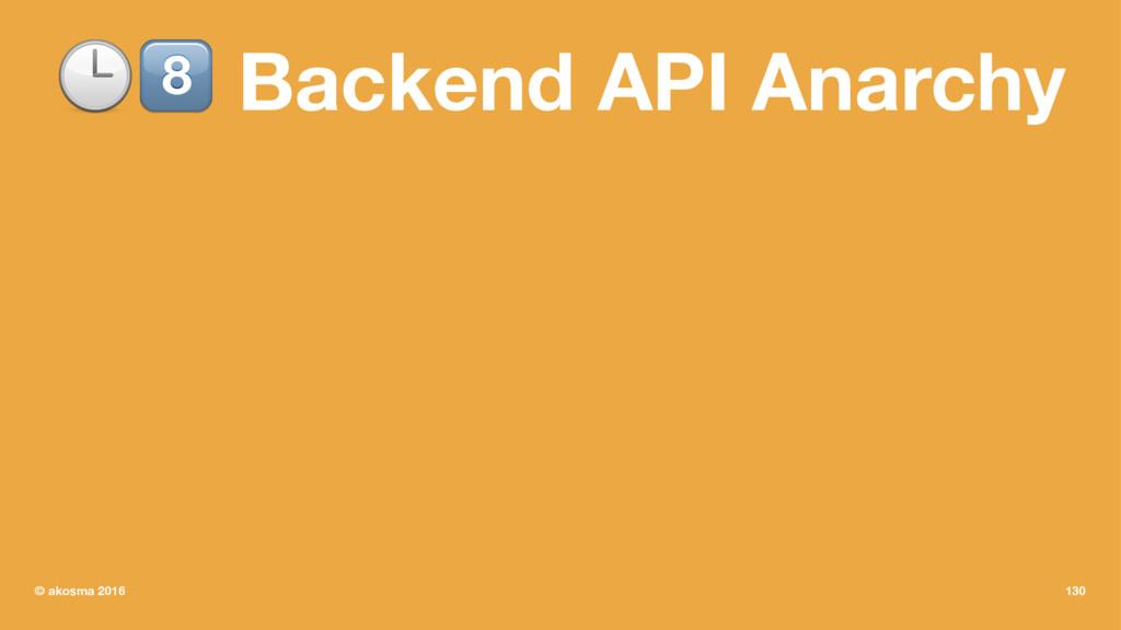"!"" Backend API Anarchy © akosma 2016 130"