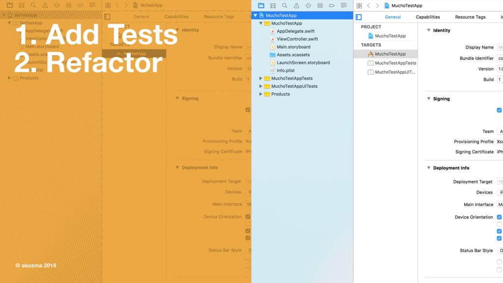1. Add Tests 2. Refactor © akosma 2016 28