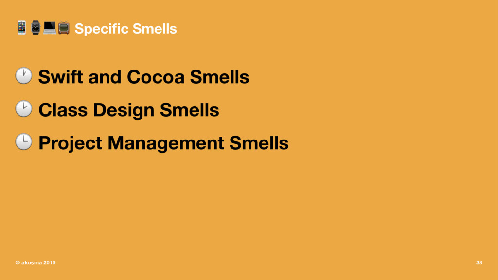 !⌚#$ Specific Smells ! Swift and Cocoa Smells ! ...