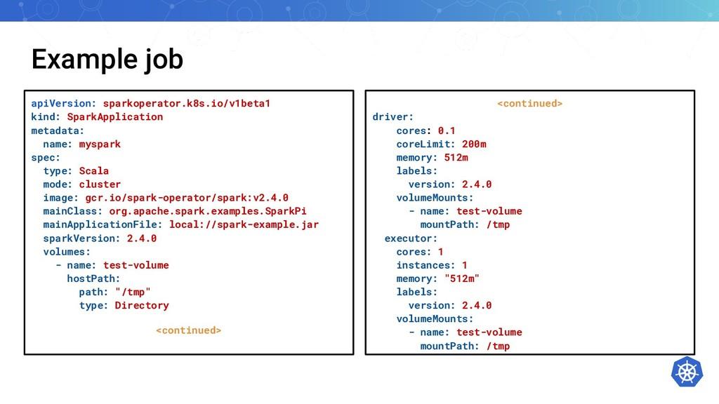 Example job apiVersion: sparkoperator.k8s.io/v1...